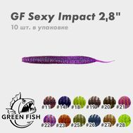 """Купить Силиконовая приманка Green Fish Sexy Impact 2.8"""" цвет - 28 в Минске, Беларуси! Топовая цена, скидки, доставка. Rybalkashop.by"""